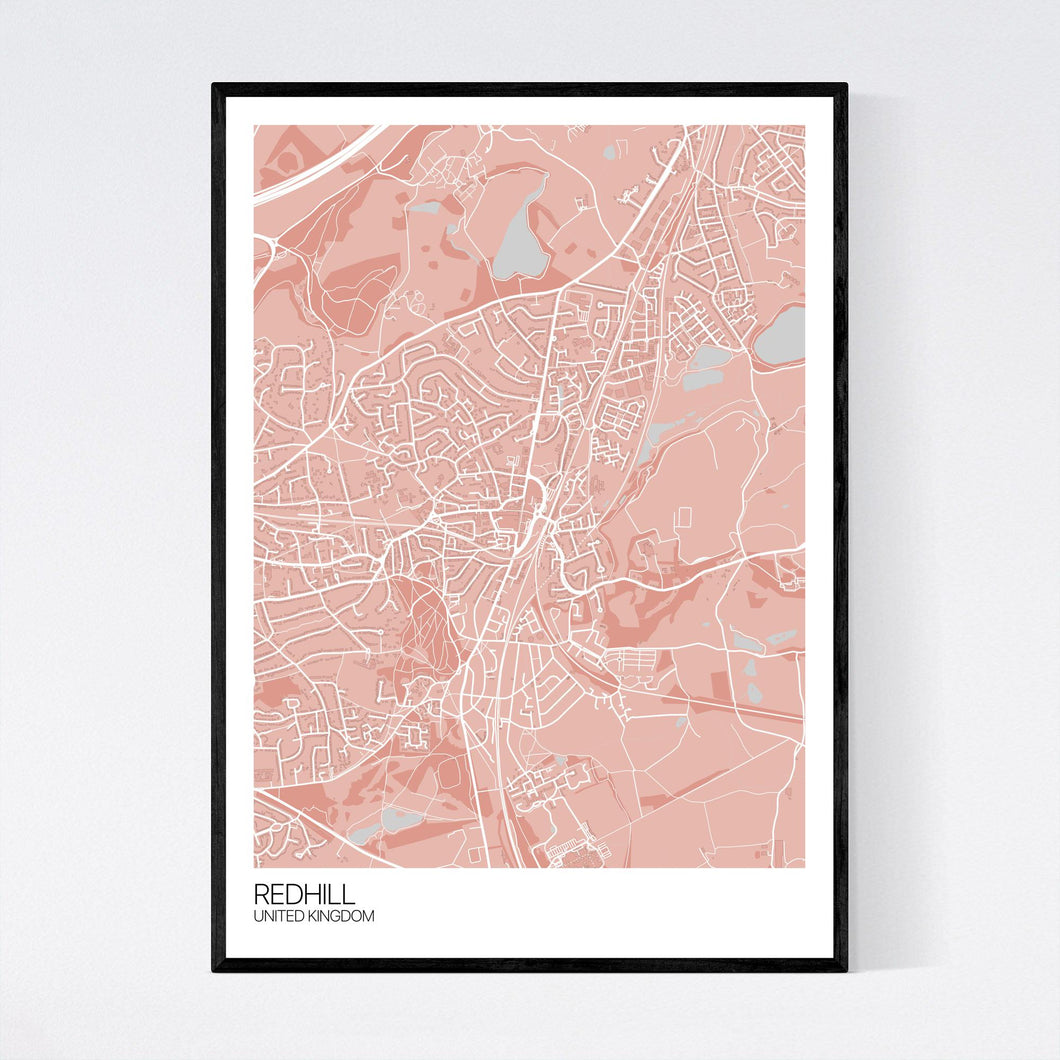 Redhill City Map Print