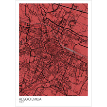 Load image into Gallery viewer, Map of Reggio Emilia, Italy