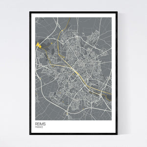 Reims City Map Print