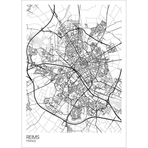 Map of Reims, France