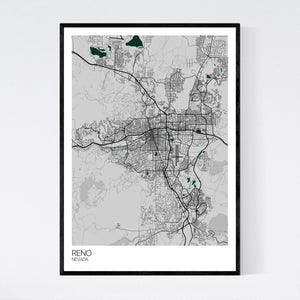 Map of Reno, Nevada