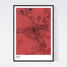 Load image into Gallery viewer, Reno City Map Print