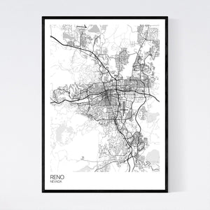 Reno City Map Print