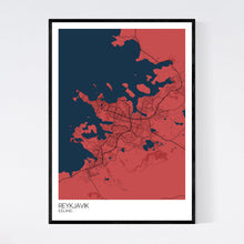 Load image into Gallery viewer, Reykjavik City Map Print