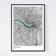 Load image into Gallery viewer, Richmond City Map Print
