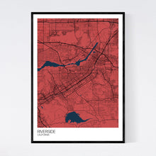 Load image into Gallery viewer, Riverside City Map Print