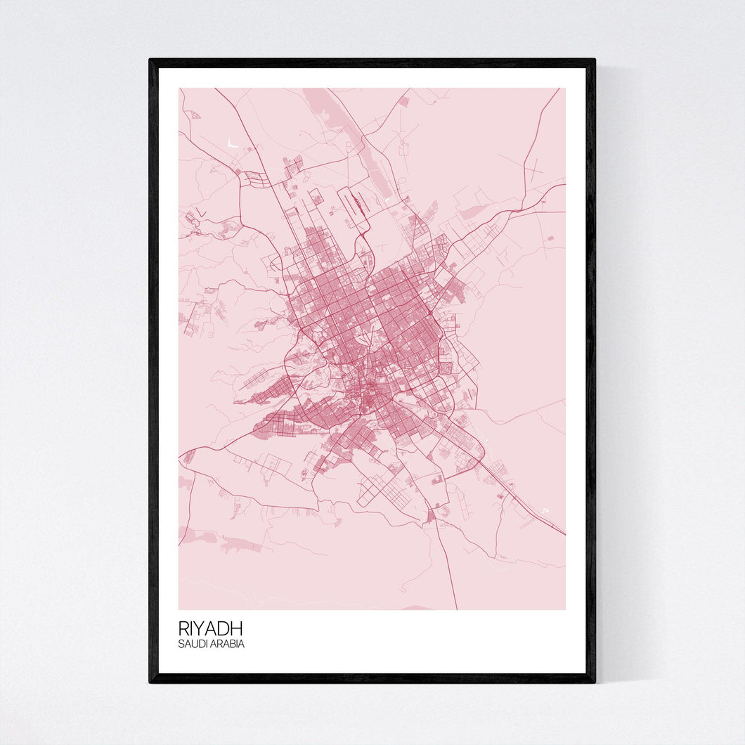 Riyadh City Map Print