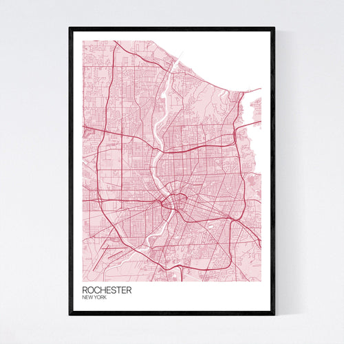 Map of Rochester, New York
