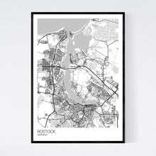 Load image into Gallery viewer, Rostock City Map Print