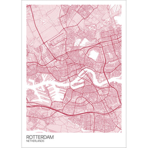 Map of Rotterdam, Netherlands
