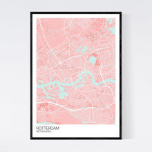 Load image into Gallery viewer, Rotterdam City Map Print