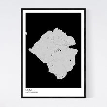 Load image into Gallery viewer, Rum Island Map Print