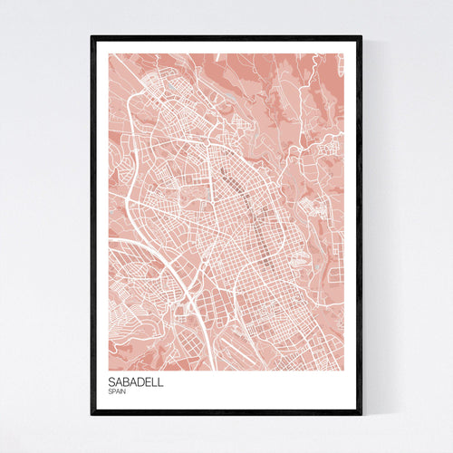 Map of Sabadell, Spain