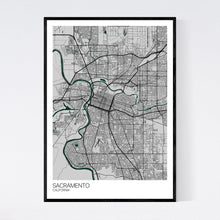 Load image into Gallery viewer, Sacramento City Map Print