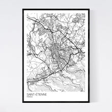 Load image into Gallery viewer, Saint-Étienne City Map Print
