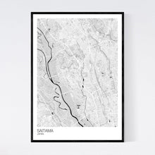 Load image into Gallery viewer, Saitama City Map Print