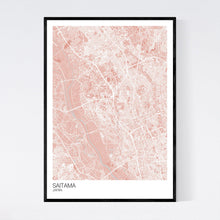 Load image into Gallery viewer, Map of Saitama, Japan