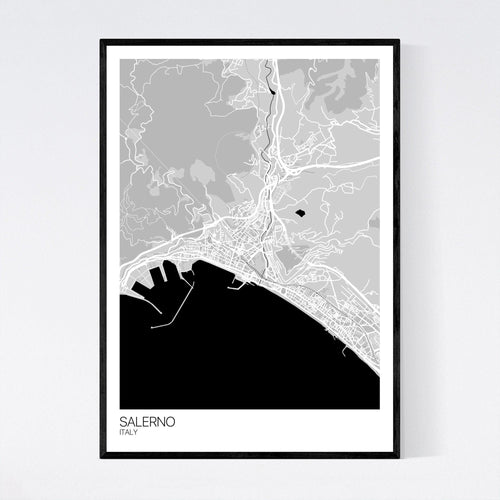 Map of Salerno, Italy