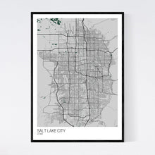 Load image into Gallery viewer, Salt Lake City City Map Print