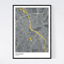 Load image into Gallery viewer, Salzburg City Map Print