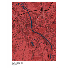 Load image into Gallery viewer, Map of Salzburg, Austria