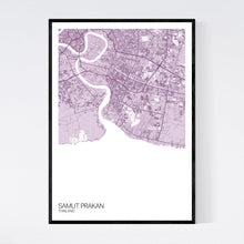 Load image into Gallery viewer, Samut Prakan Region Map Print