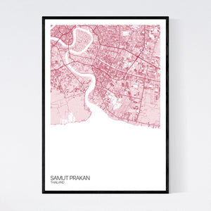 Samut Prakan Region Map Print