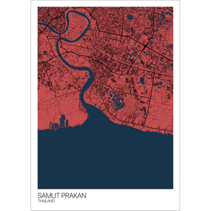 Map of Samut Prakan, Thailand