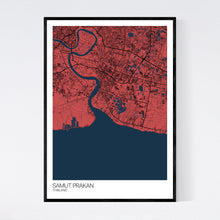 Load image into Gallery viewer, Map of Samut Prakan, Thailand