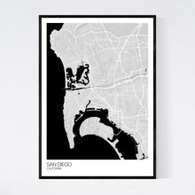 Load image into Gallery viewer, San Diego City Map Print