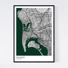 Load image into Gallery viewer, Map of San Diego, California