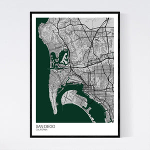 Map of San Diego, California