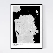 Load image into Gallery viewer, San Francisco City Map Print