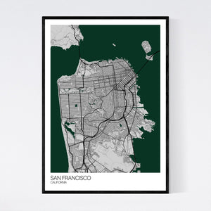 San Francisco City Map Print