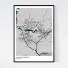 Load image into Gallery viewer, Santa Clarita City Map Print