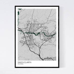 Santa Clarita City Map Print
