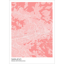 Load image into Gallery viewer, Map of Sarajevo, Bosnia and Herzegovina
