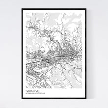 Load image into Gallery viewer, Sarajevo City Map Print