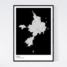 Load image into Gallery viewer, Sark Island Map Print