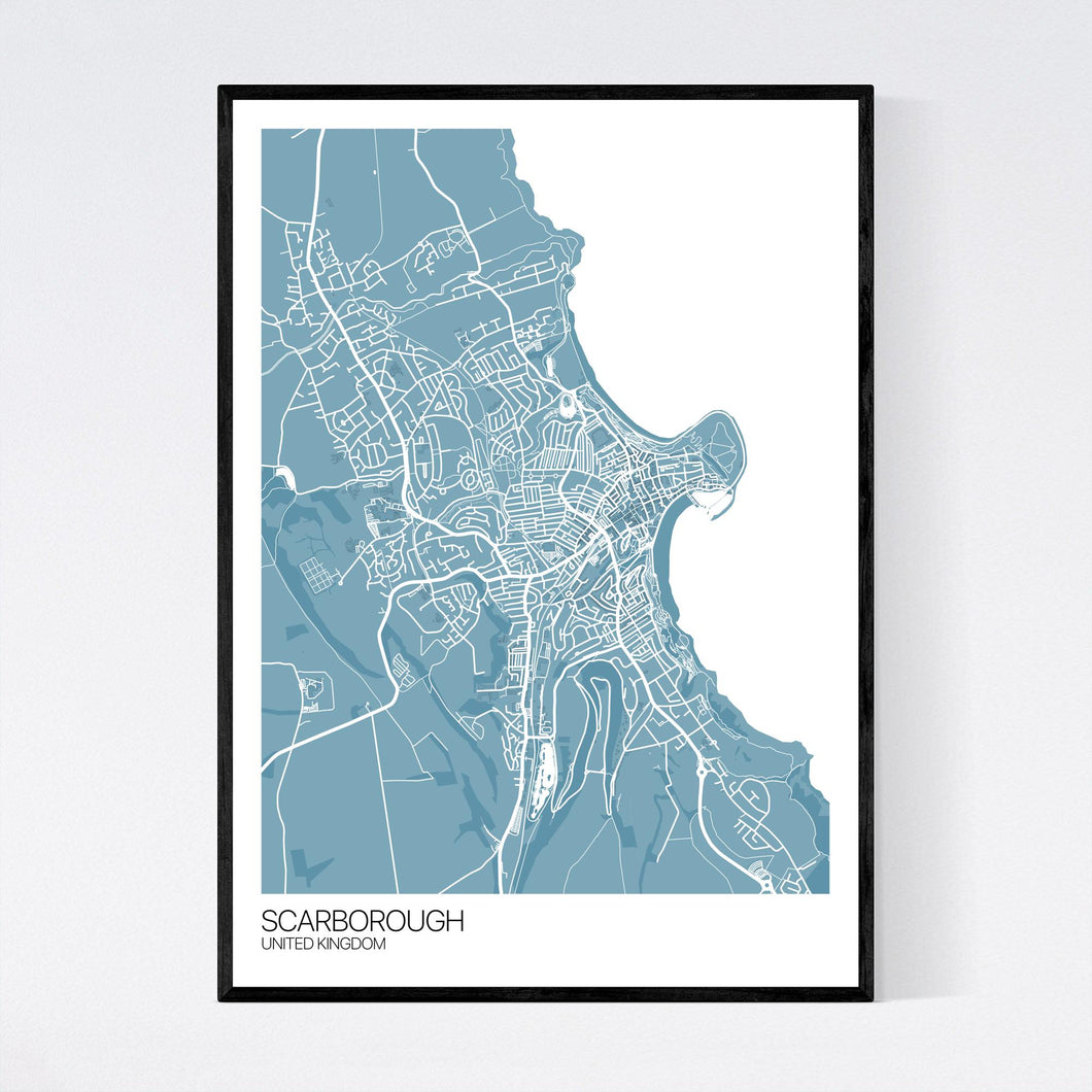 Scarborough City Map Print