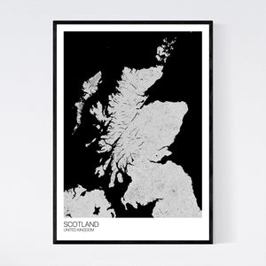 Scotland Country Map Print