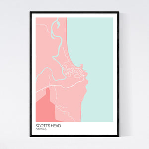 Scotts Head Town Map Print