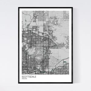 Scottsdale City Map Print