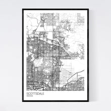 Load image into Gallery viewer, Scottsdale City Map Print