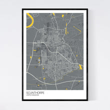 Load image into Gallery viewer, Scunthorpe City Map Print