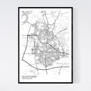 Scunthorpe City Map Print