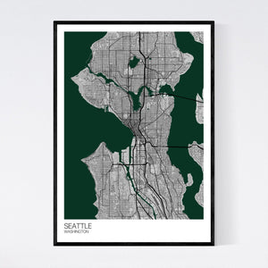 Seattle City Map Print