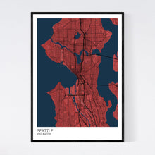 Load image into Gallery viewer, Seattle City Map Print