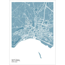 Load image into Gallery viewer, Map of Setúbal, Portugal