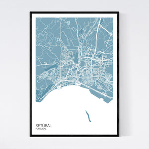 Map of Setúbal, Portugal